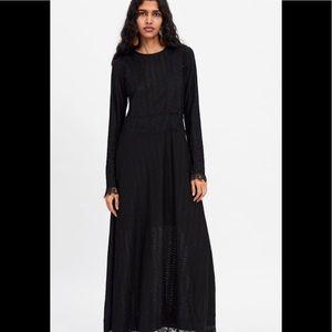 Zara Net / Lace Maxi Dress